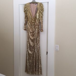 Gold sequin brand new jovani gown